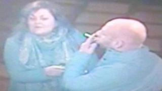 CCTV stills of the couple police want to trace