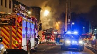 Scene of blaze at George bar in Paisley