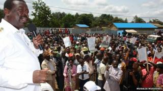 Musalia Mudavadi in Kisii county, Kenya, 21st July 2012. Photograph from his website www.musaliamudavadi.com