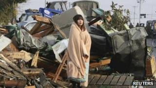 Damage caused by March 2011 earthquake and tsunami in Ishimaki City, Miyagi Prefecture
