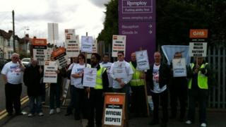 Remploy strike in Coventry