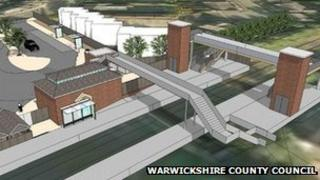 Artist's impression of Kenilworth railway station