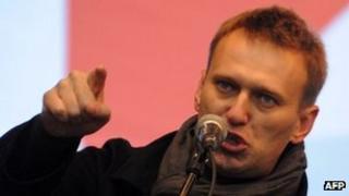 Anti-Kremlin blogger Alexei Navalny - file pic