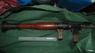 Rocket launcher (RPG7) seized by police