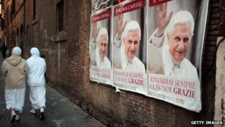 Posters of the pope