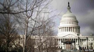 US Capitol in Washington DC 27 February 2013