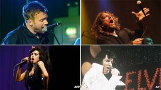 Blur, Robert Plant Amy Winehouse and Elvis Presley