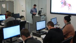 Staffordshire University classroom