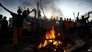 Kibera men during the violence
