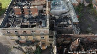 The fire damage