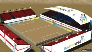 Artist's impression of the stadium