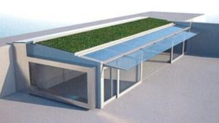 An artists' impression of the garden pavilion