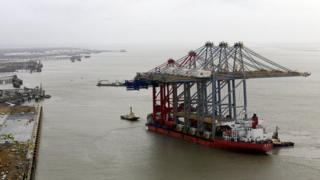 The Shanghai Zhenhua Heavy Industries Company-built cranes
