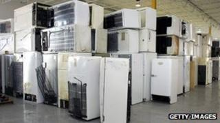 old fridges