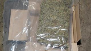 Box of cannabis