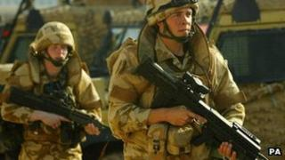 Soldiers from Royal Regiment of Scotland