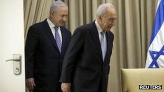 Israeli PM Benjamin Netanyahu and President Shimon Peres. Photo: 2 March 2013