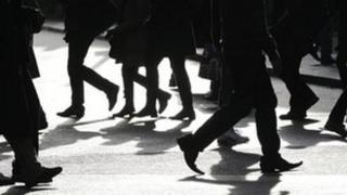 Generic shot of people walking