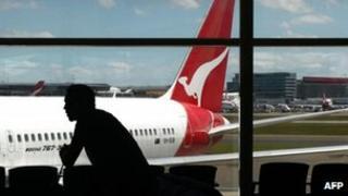 File photo: Qantas plane in Sydney