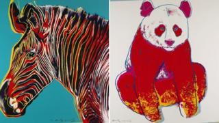 Grevy's zebra and giant panda