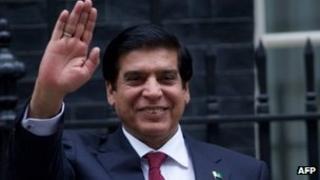 Pakistan's Prime Minister Raja Pervez Ashraf