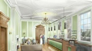 Artist's impression of the restored hall