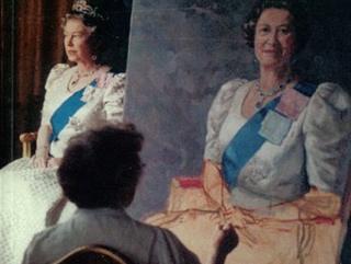 Queen sitting for Juliet Pannett
