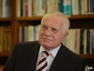 Czech President Vaclav Klaus at Prague Castle, 5 March