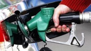 A person using a petrol pump