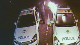 Police cars set alight at Abbots Langley police station