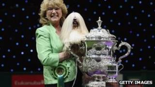 Elizabeth and her owner Margaret Anderson