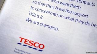 Tesco apology ad