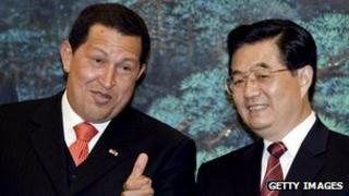 Hugo Chavez shared good relations with President Hu Jintao and other Chinese leaders