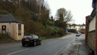 Scene of police van crash in Bideford