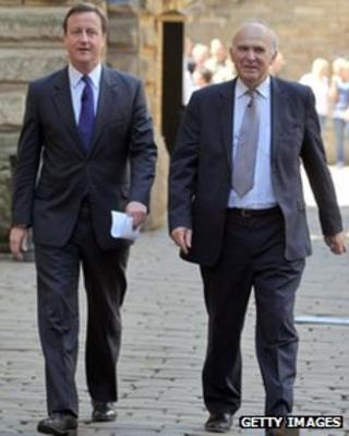 David Cameron and Vince Cable (file pic)