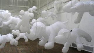Space Pups art installation at the Ulster Museum in Belfast