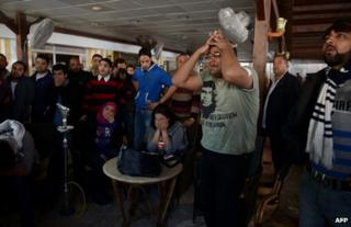 Egyptians react to the court verdict in Port Said, 9 March