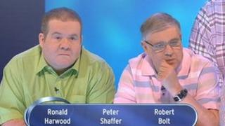 Pat Gibson and Barry Simmons (right) on Eggheads