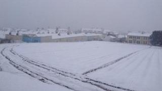 Snow in St Helier