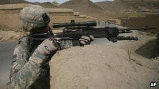 US soldier in Wardak province, April 2009