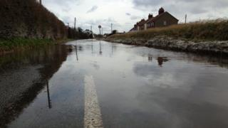 Flooding at Sea Palling