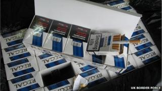 Illegal cigarettes find at Southampton Container Port