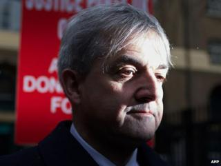 Chris Huhne, shortly before his sentencing