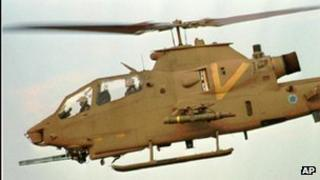 Israeli AH-1 Cobra helicopter, file picture, 1992