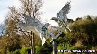 Buzzard sculpture