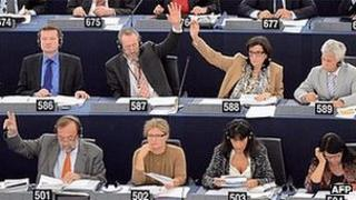 MEPs voting in Strasbourg - file pic