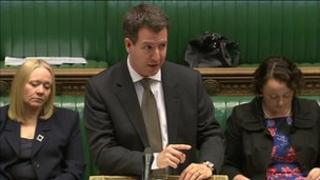 Shadow Treasury minister Chris Leslie during Tuesday's debate