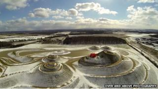 Northumberlandia with red nose