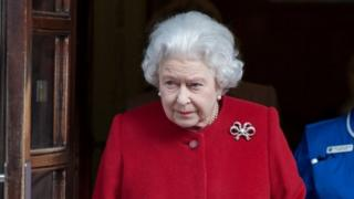 The Queen leaving hospital