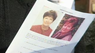 A police handout during the search for Mrs Ewards